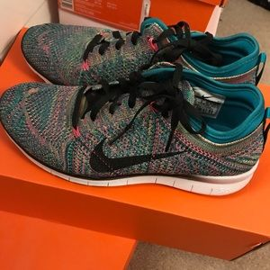 promo code bdb2a 2187f ... usa nike shoes nike flyknit free run 5.0 shoes size 7.5 rainbow a82ad  6b66c